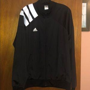 Never worn black adidas jacket size XL